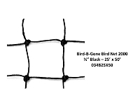 "3/4"" MESH - BIRD NETTING HEAVY DUTY BLACK - 25"