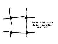 "3/4"" MESH - BIRD NETTING HEAVY DUTY BLACK - CUSTOM CUT"
