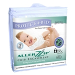 "ALLERZIP CRIB MATTRESS PROTECTOR (FITS 6"")"